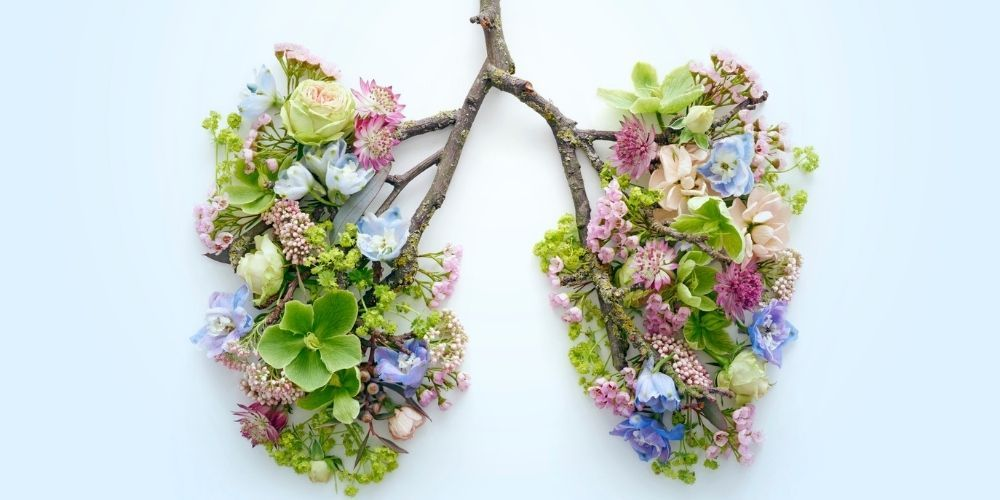 cancer lung flowers